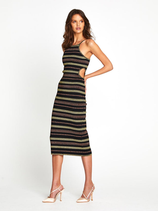 BLACK MAGIC MIDI DRESS