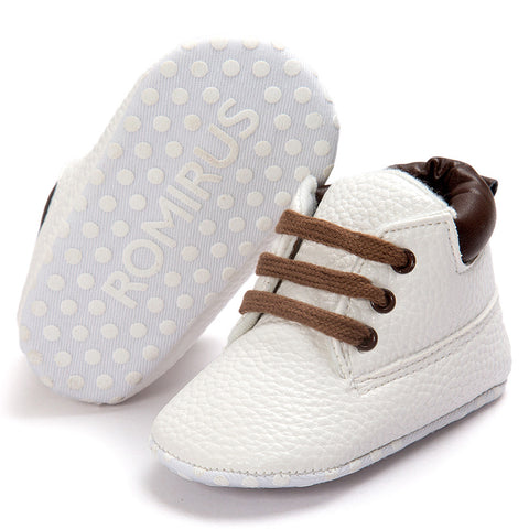 Baby shoes Leather boys girls Soft Sole Shoes Infant Boy Girl Toddler Shoes baby girls shoes First walker white