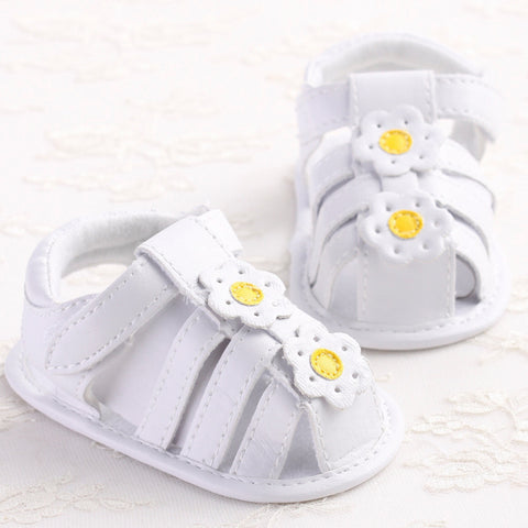 Baby shoes gilrs summer shoes Toddler Girl Crib Shoes Newborn Flower Soft Sole Anti-slip Baby Sneakers Sandals