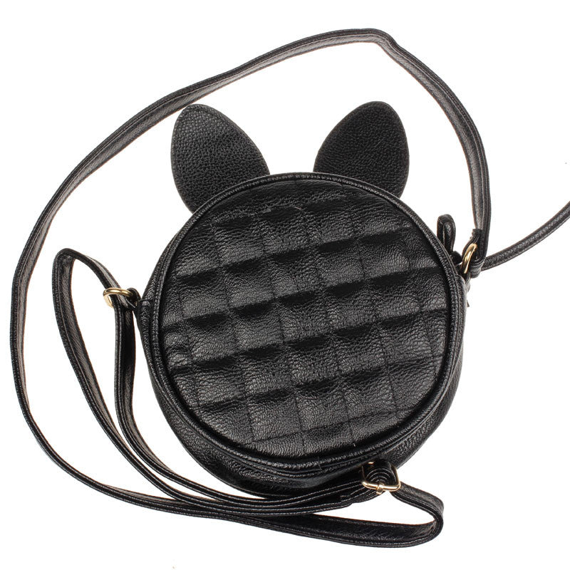 Rabbit Ear Round Leather Girls / Ladies Handbag Women's Shoulder Bag