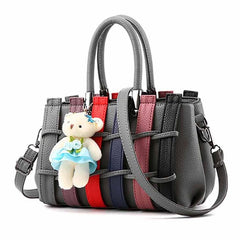 Xiniu tote bags for women leather woman bag cross body messenger Hit Color Weave Satchel Shoulder Bag #5M