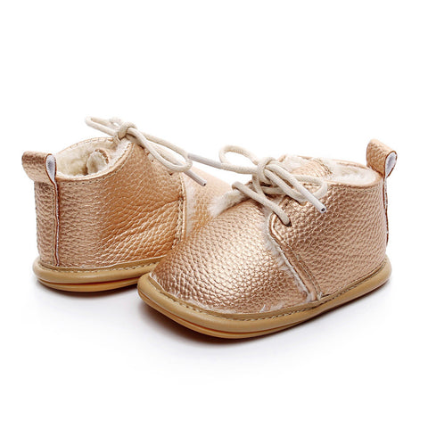 inter Baby Boy Girl Soft Shoes Soft Soled Non-slip Footwear Crib Shoes Newborn baby shoes PU Suede Leather baby shoes