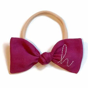 Berry Initial Bow