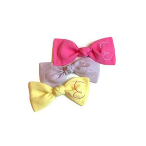 Neon Pink Initial Bow