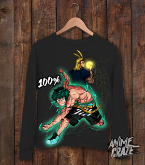 100% Midoriya Sweat Shirt(Unforgotten Kai) - Anime Craze