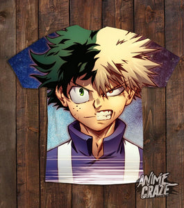 Bakugo & Midoriya T-shirt(Exclusive) - Anime Craze