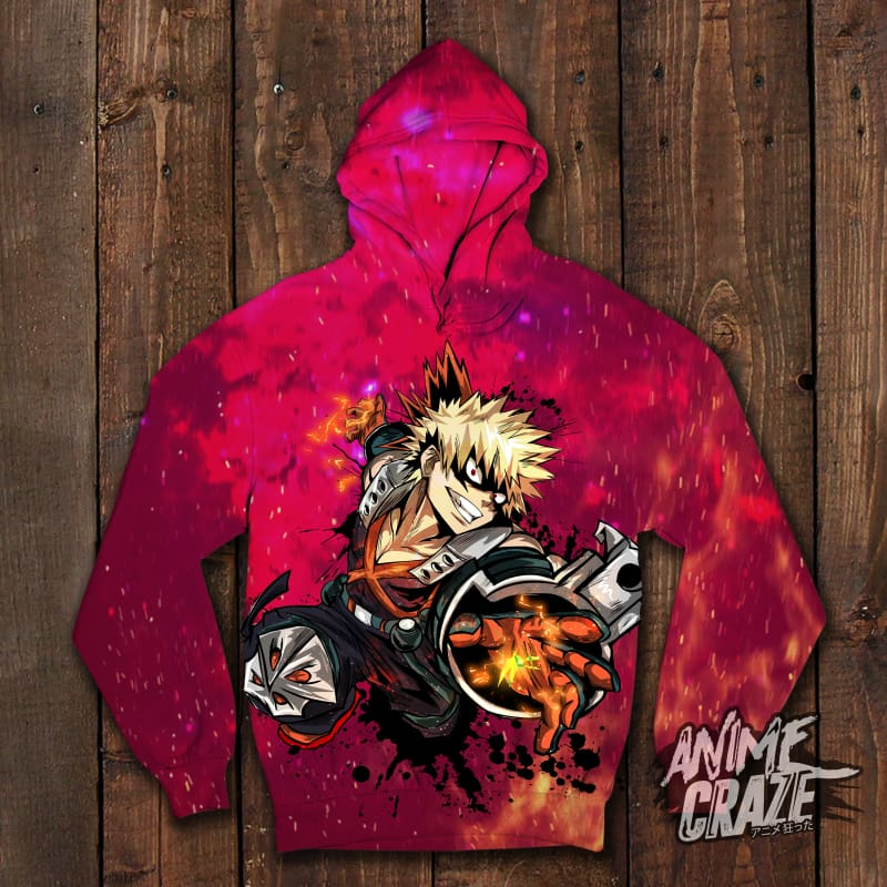 Bakugo Pullover Hoodie (Exclusive) - Anime Craze