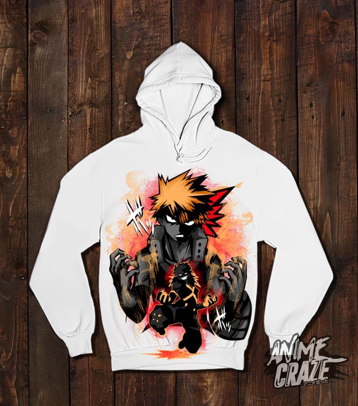 Bakugo Pullover Hoodie(Exclusive) - Anime Craze