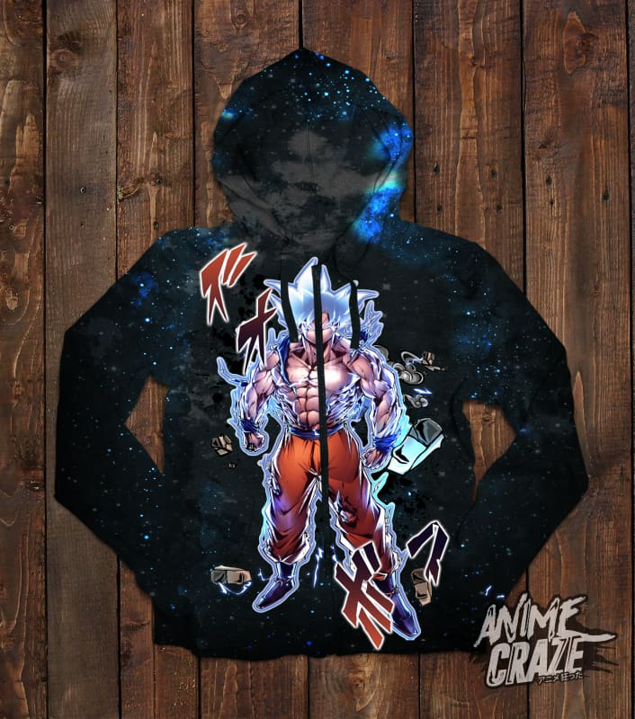 Beast Goku Zip-Up Hoodie(Exclusive) - Anime Craze
