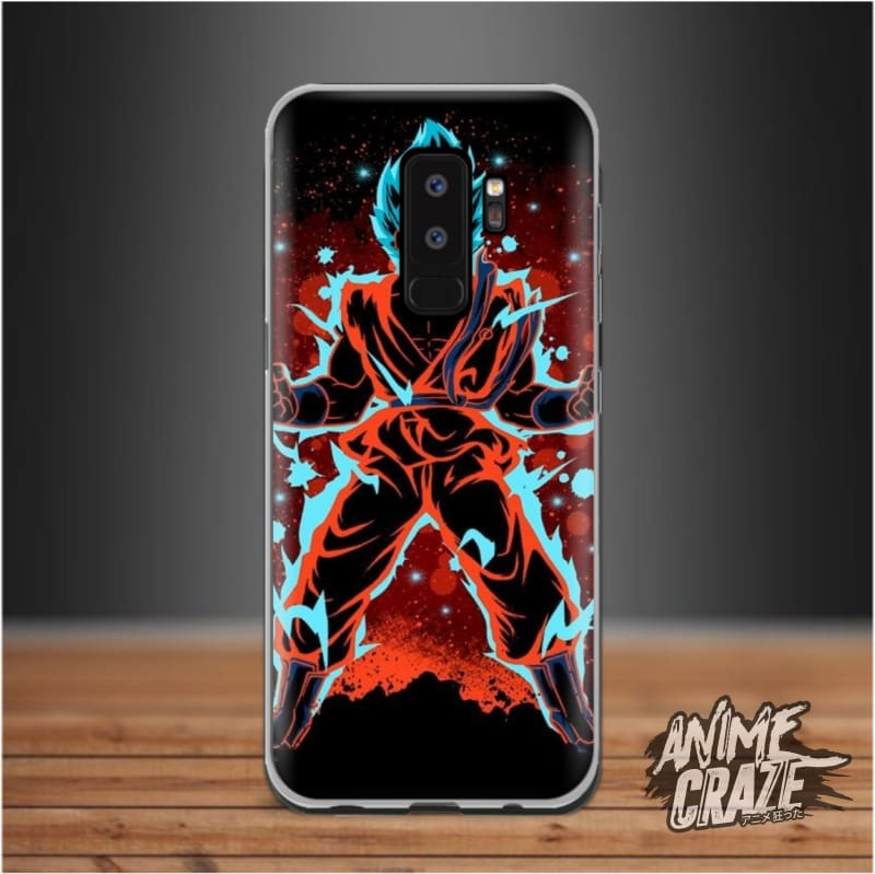 Blue/red Splash Case For Samsung S9 Plus Dragon Ball