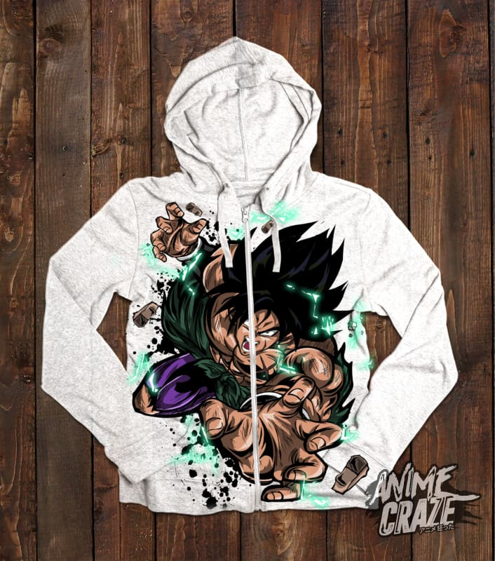 Broly Zip-Up Hoodie(Exclusive) - Anime Craze