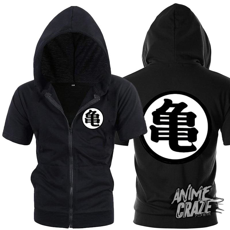 Dragon Ball kanji Sleeveless Hoodie - Anime Craze