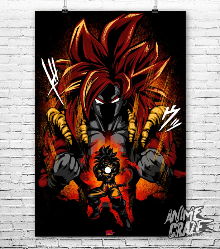 Gogeta SS4 Poster(Exclusive) - Anime Craze