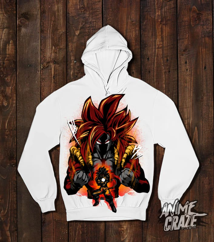 Gogeta SS4 Pullover Hoodie(Exclusive) - Anime Craze