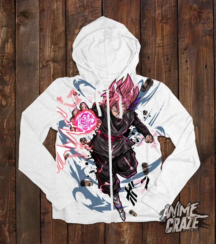 Goku Black Zip-Up Hoodie(Exclusive) - Anime Craze