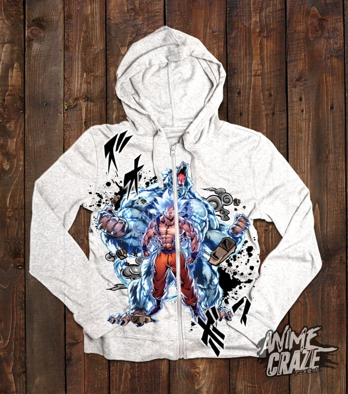 Goku & Oozaru Zip-Up Hoodie(Exclusive) - Anime Craze