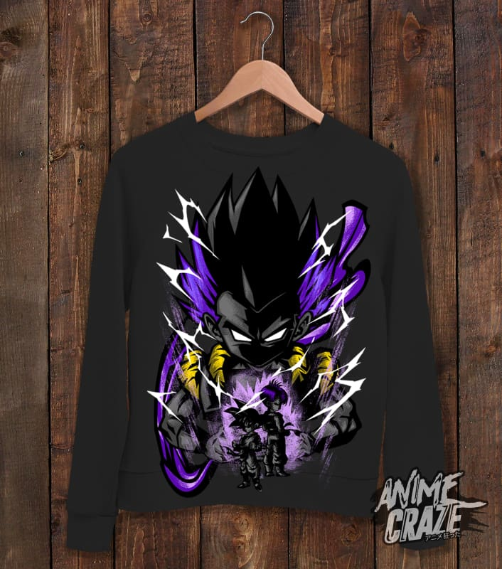 Goten Sweat Shirt(Exclusive) Black / S Dragon Ball