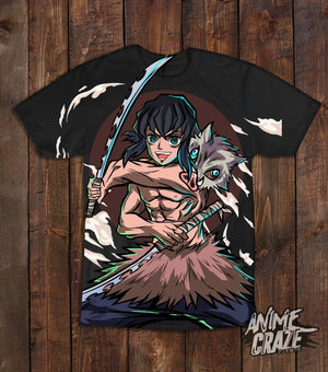 Inosuke Hashibira T-shirt(Exclusive) - Anime Craze