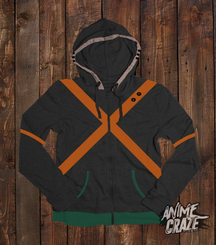 Katsuki Bakugou Zip-Up Hoodie(Exclusive) - Anime Craze