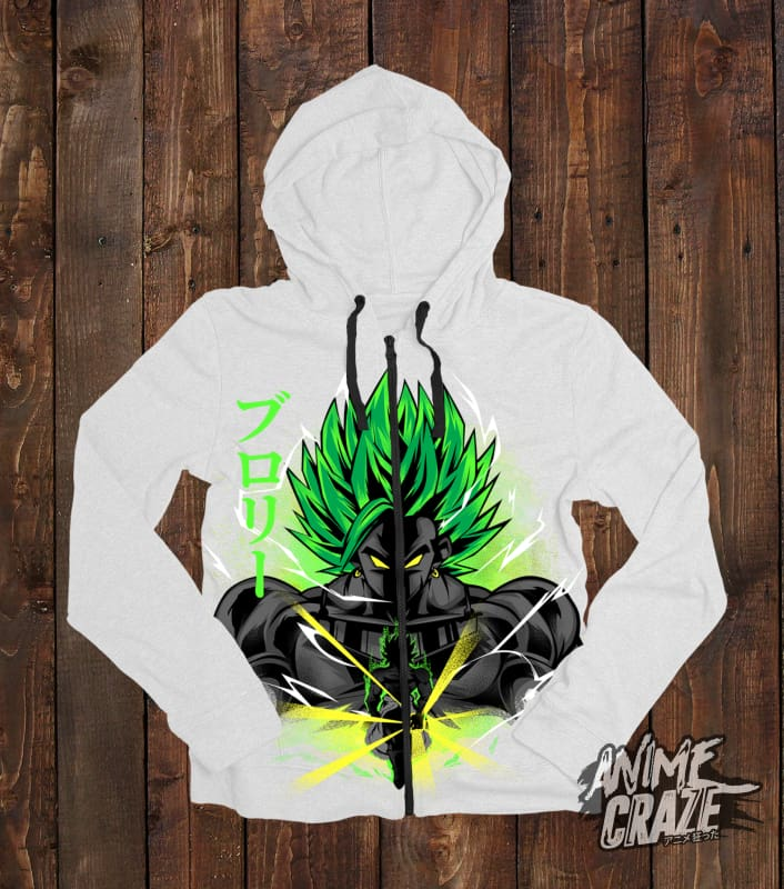 Legendary Broly Zip-Up Hoodie(Exclusive) - Anime Craze