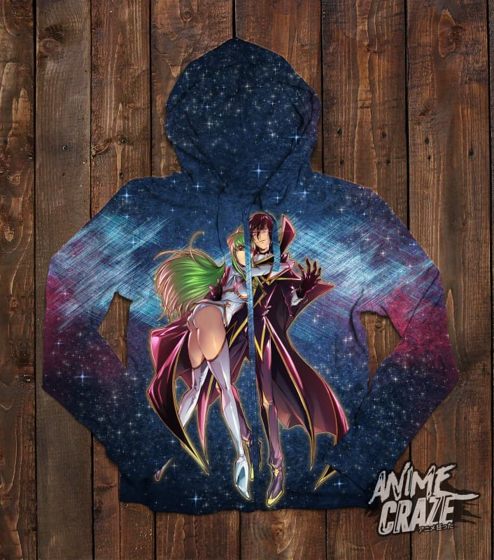 Lelouch and C.C. Zip-Up Hoodie(Exclusive) - Anime Craze