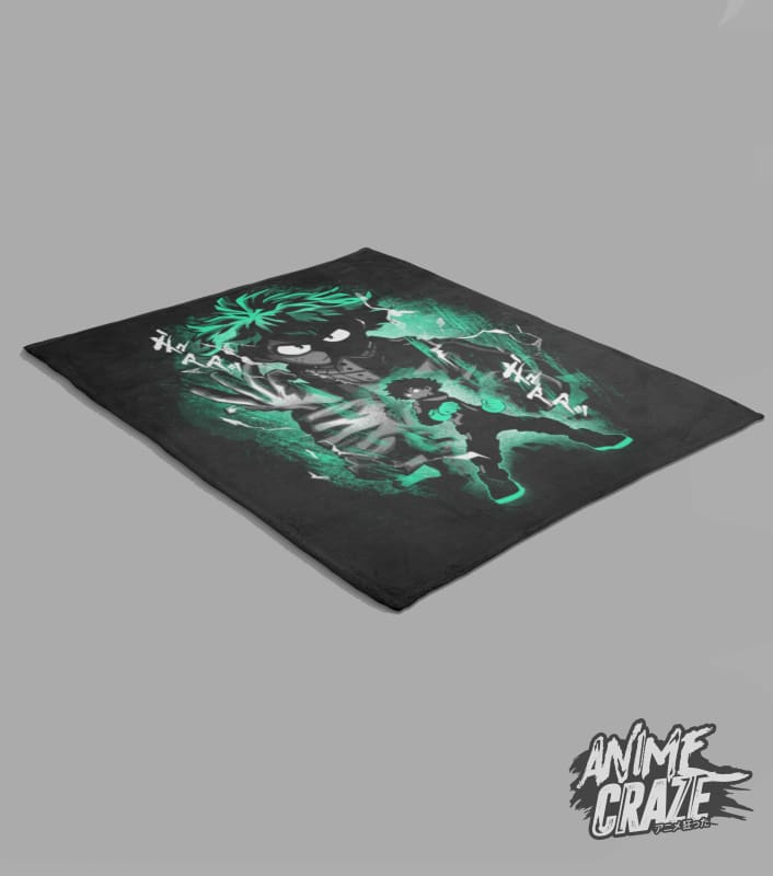 Midoriya Fleece Blanket(Exclusive) - Anime Craze