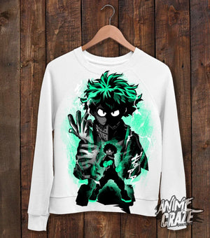 Midoriya Sweat Shirt(Exclusive) - Anime Craze