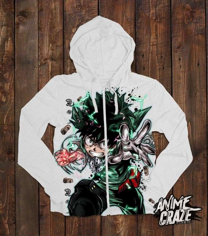Midoriya Zip-up Hoodie(Exclusive) - Anime Craze