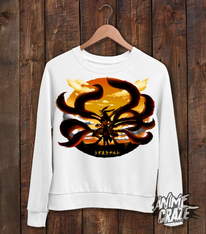 Nine Tails Sweat Shirt(Exclusive) - Anime Craze