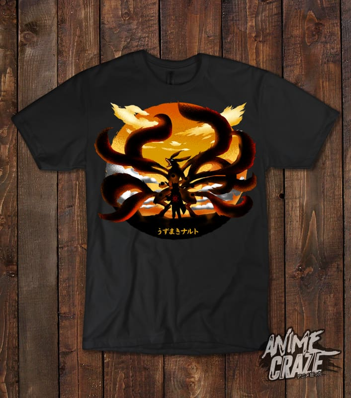 Nine Tails T-shirt(Exclusive) - Anime Craze