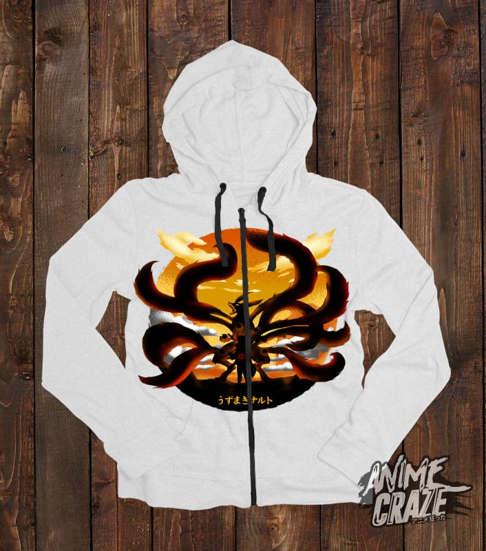 Nine Tails Zip-Up Hoodie(Exclusive) - Anime Craze