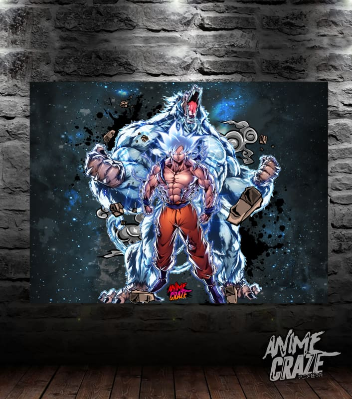 Oozaru & Goku Canvas(Exclusive) - Anime Craze