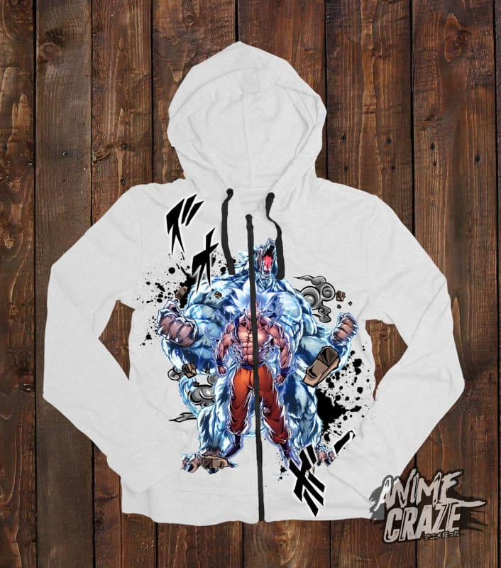Oozaru & Goku Zip-Up Hoodie(Exclusive) - Anime Craze
