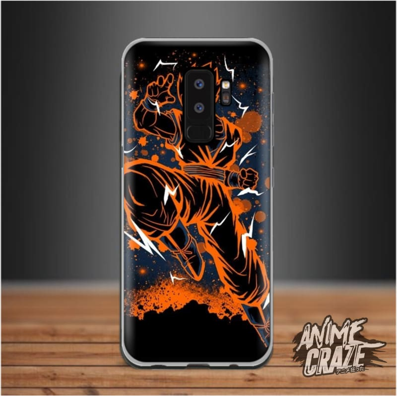 Orange Splash Case For Samsung S9 Plus Dragon Ball
