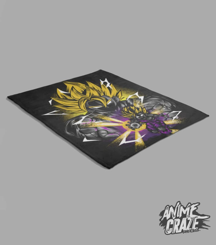Saiyan Gohan & Goku Fleece Blanket(Exclusive) Dragon Ball