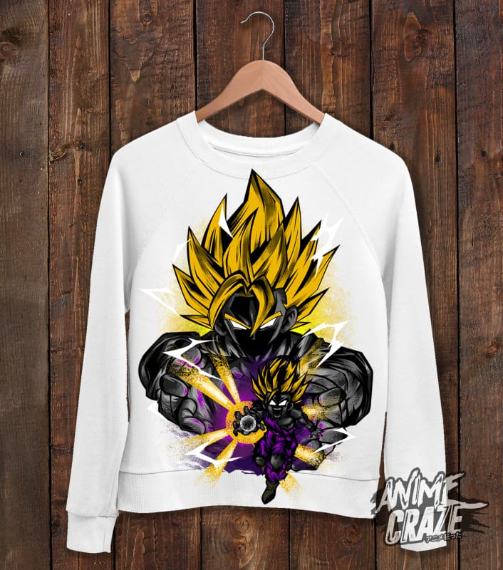 Saiyan Gohan & Goku Sweat Shirt(Exclusive) Dragon Ball
