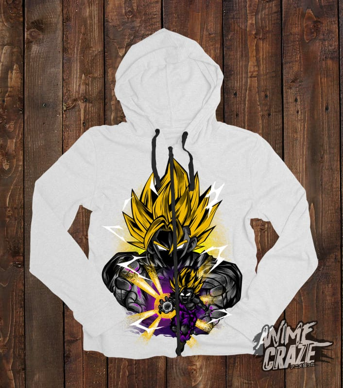 Saiyan Gohan & Goku Zip-Up Hoodie(Exclusive) Dragon Ball