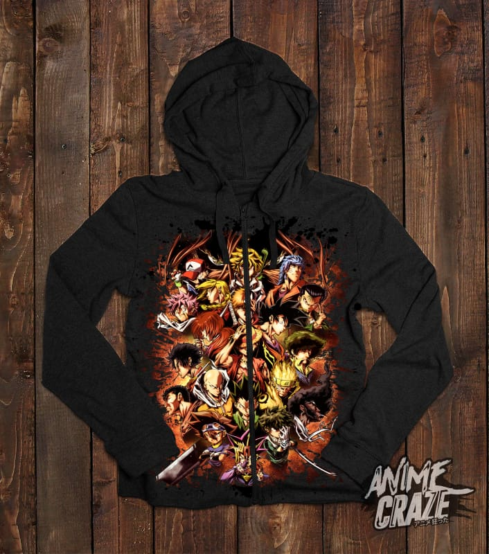Shōnen MC's Zip-Up Hoodie(Exclusive) - Anime Craze