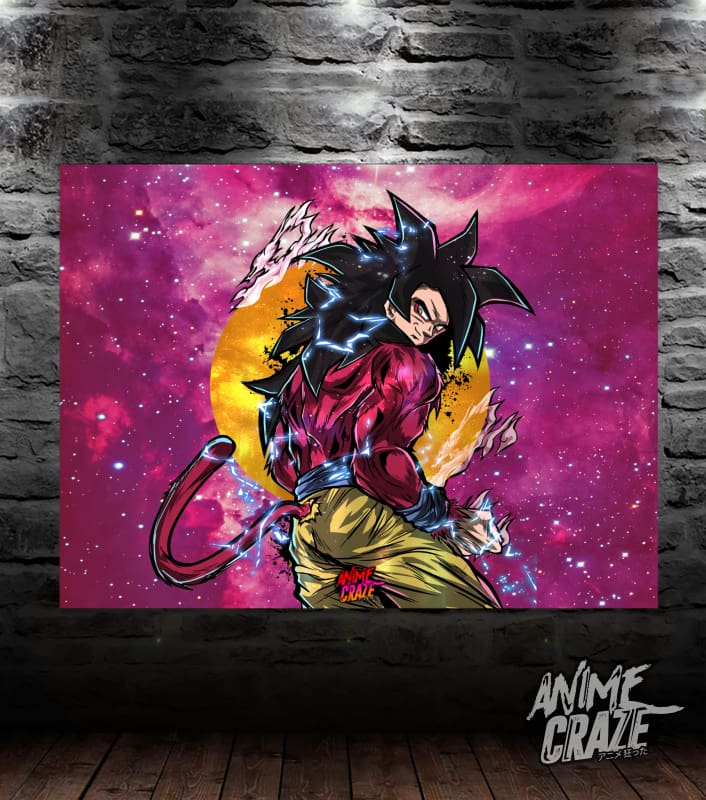 SS4 Goku Canvas(Exclusive) - Anime Craze