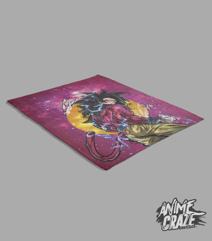 SS4 Goku Fleece Blanket(Exclusive) - Anime Craze