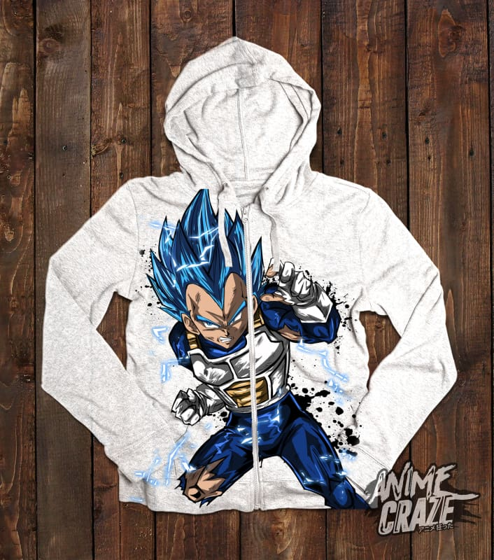 Vegeta Zip-Up Hoodie(Exclusive) - Anime Craze