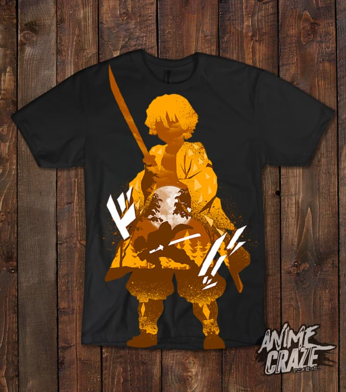 Zenitsu Agatsuma T-shirt(Exclusive) - Anime Craze