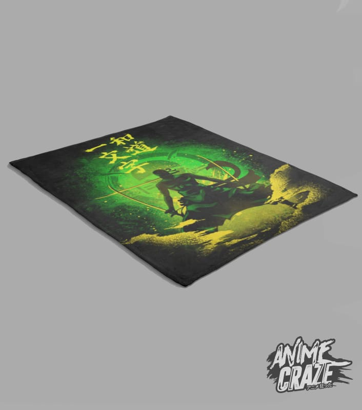 Zoro Fleece Blanket(Exclusive) - Anime Craze