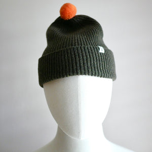 Cromarty Wool Hat - Acorn/Orange