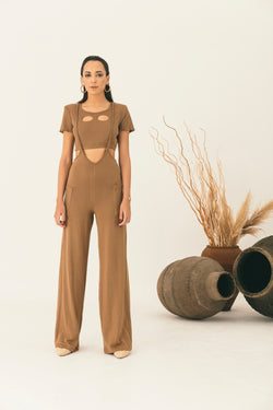 CROP TOP AND JUMPSUIT CO-ORD - NALÈ