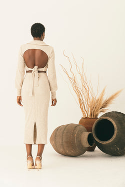 OPEN BACK BLOUSE AND SKIRT CO-ORD - NALÈ
