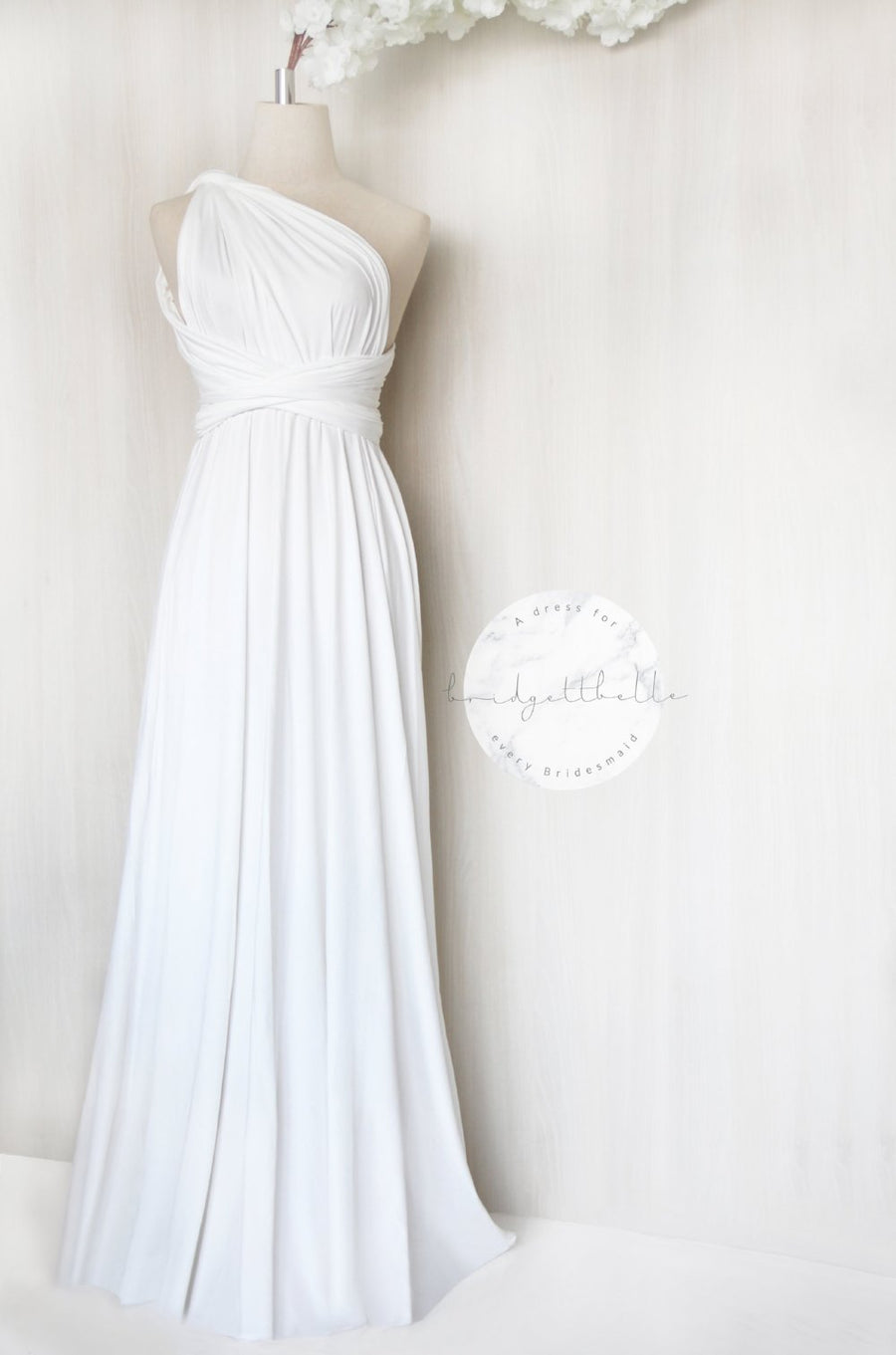 BB REGULAR MULTI-WAY MAXI DRESS IN WHITE