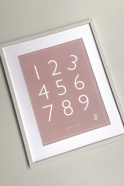 1-9 Numbers Kids Poster