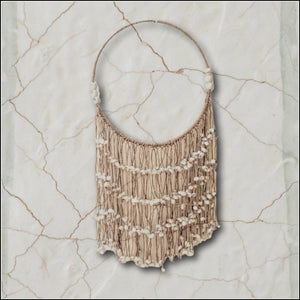 Jute Tribale Necklace Wall Hanging
