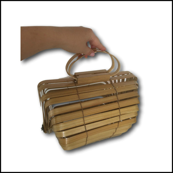Collapsible Elliptical Bamboo Bag